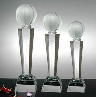 TR-1010 Product name:Crystal Basketball Trophy