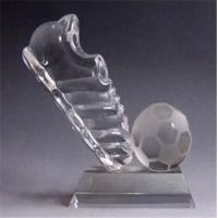 TR-1008 Product name:Crystal Football Trophy