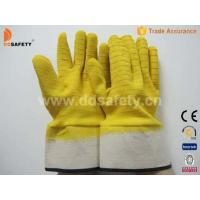 Quality Cotton with yellow latex glove-DCL412 wholesale