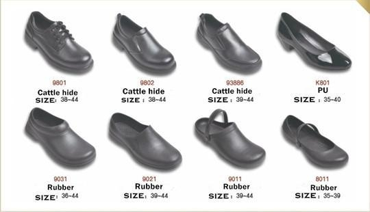 details of 9801 non slip shoes chef shoes kitchen work