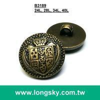 China Shank back ABS button (#B3189) Royalty theme pattern antique brass plated button with shank back on sale