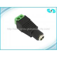 Best CCTV Accessories Female CCTV Camera Power Connector , Screw Power Connector wholesale