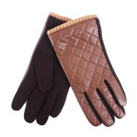 China Shearling glove with PU-men on sale