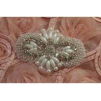 Best Beaded Rhinestone applique,crystal rhinestone patch for Garment Accessories Hair Accessories wholesale