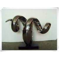 Stainless Steel Abstract Sculpture Snake Shape
