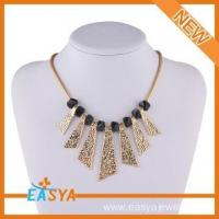 China Razor Blade Meaning Black Beaded Necklace on sale