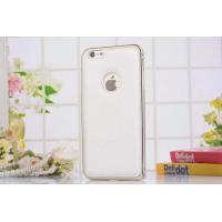 Buy cheap Leather back cover with metal bumper for iPhone 6 from wholesalers