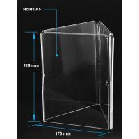 Best Acrylic Table Tent Clear acrylic A5 menu holder with three sides wholesale