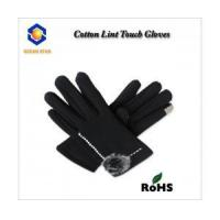 Best cotton lint touch screen glove for all touch screen device like smart phone and keep warm wholesale