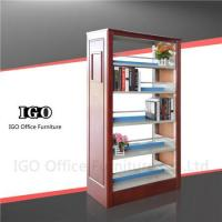 Library Book Shelf with Wooden Panels