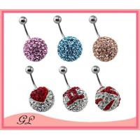 Best GL-BR01428 Totally crystal ball sexy navel belly rings wholesale
