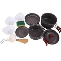 Best Lightweight Outdoor Camping Hiking Cookware Backpacking Cooking Picnic Bowl Pot Pan Set wholesale