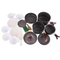 Best Foldeble Outdoor Camping Hiking Cookware Backpacking Cooking Picnic Bowl Pot Pan Set wholesale