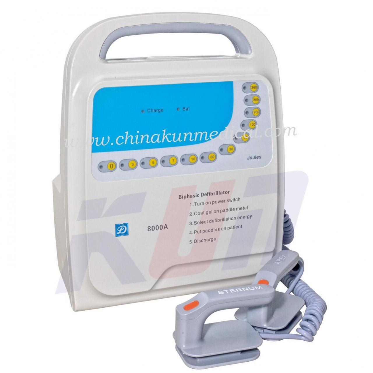 China MD-8000A Medical Defibrillator Biphasic on sale