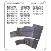 Thick Stainless Steel Sheel Cliche Pad Printing Plate