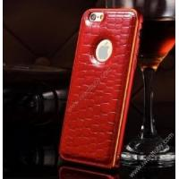 Best Apple Accessories lacoste style leather skin back cover red wholesale