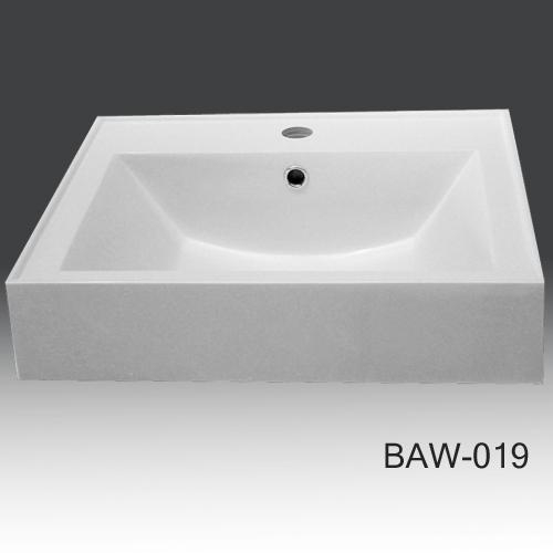 cheap bathroom countertop solid surface basin baw 019 of