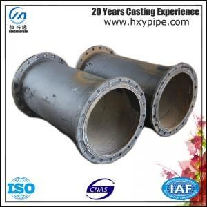 Cheap ISO2531 Nodular Iron Double-Flanged Pipe Water Supply Project Use for sale