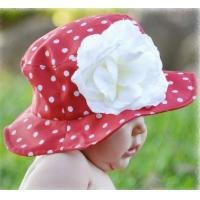 Red with White Dots Sun Hat