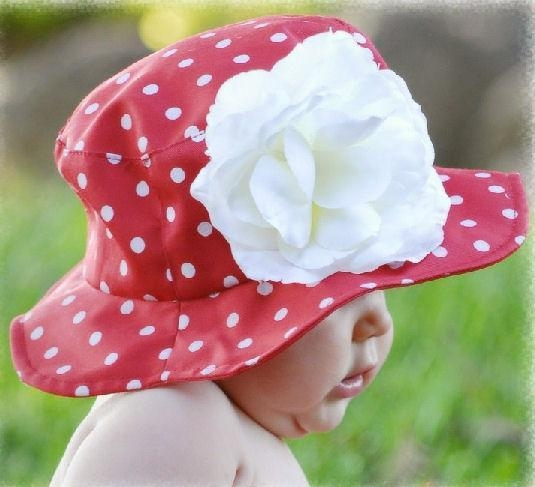 Cheap Red with White Dots Sun Hat for sale