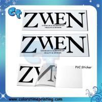 Best Pvc transparent clear adhesive stickers wholesale
