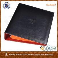 Best pu leather portfolio with 3 ring metal binder for hotel wholesale