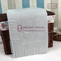 China Acrylic Knitted Plain Blanket on sale