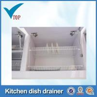 Best White PVC coating steel wire dish racks for kitchen cabinets wholesale