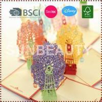 Best 3D Pop-Up Sky Wheel Greeting & Gift Cards wholesale