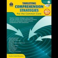 Best Language Arts Targeting Comprehension Strategies for the Common Core Grade 6 TCR8053 wholesale