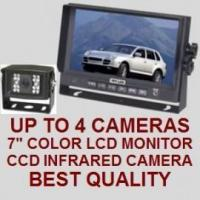 """Best 7"""" COLOR REAR VIEW BACKUP CAMERA SYSTEM - Digital Flat LCD and CCD Camera wholesale"""