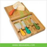 Quality Bamboo Cheese Cutting Board Set with Cheese Knife wholesale