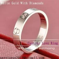 Best Faux Cartier Love Wedding Ring 18K White Gold With Diamonds wholesale