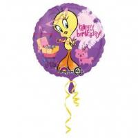 Best Licensed Characters Standard Tweety Birthday Foil Balloon S60 Packaged 43 cm wholesale