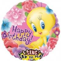 Best Licensed Characters Sing-A-Tune Tweety Happy Birthday Foil Balloon P75 Packaged 71 cm wholesale