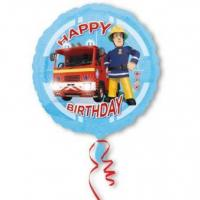 Best Standard Fireman Sam Happy Birthday Foil Balloon S60 Packaged 43 cm wholesale