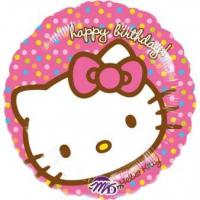 Best Licensed Characters Standard Hello Kitty Happy Birthday Foil Balloon S60 Packaged 43 cm wholesale