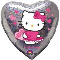 Best Licensed Characters Standard Hello Kitty Love Hearts Foil Balloon S60 Packaged 43 cm wholesale