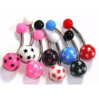Buy cheap Star Print Colourful Acrylic Belly Bar from wholesalers