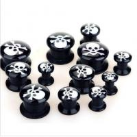 Buy cheap Acrylic Skull Ear Tunnel from wholesalers
