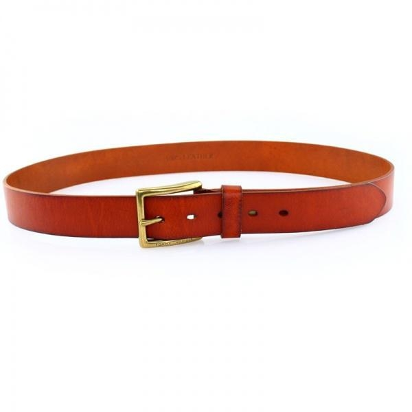 Cheap Mens Vintage Tan Leather Belt for sale