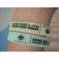 Best Customize glow in the dark Silicon Wristbands wholesale