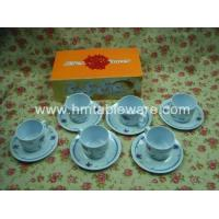 China 12pcs melamine cup set w/ colour package Product No.:3524 on sale