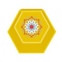 Quality Golden yellow hexagon display SH15-151002052 wholesale