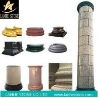 Quality Rose Red Marble Round Columns Pillars Constructive Stone Column wholesale