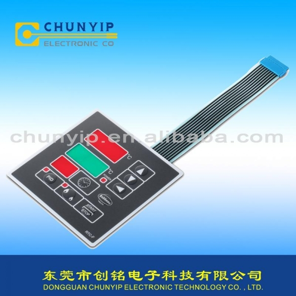 Cheap Dome embossed membrane switch with smog window and Berg connector for sale