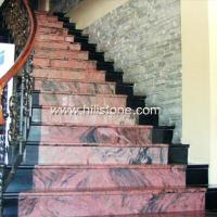Stone Stairs Chinese Muliticolor Red