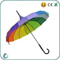 Best good quality manual open pagoda color straight rainbow color umbrella wholesale