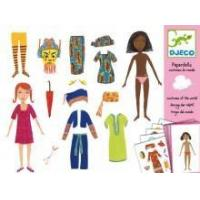 China Arts & Crafts Djeco Paper Dolls- Costumes Of The World on sale