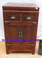 China Bedside Cabinet SC-139p6 Antique 2 Door 2 Drawer Narrow Storage Cabinet, Nightstand, End Table on sale